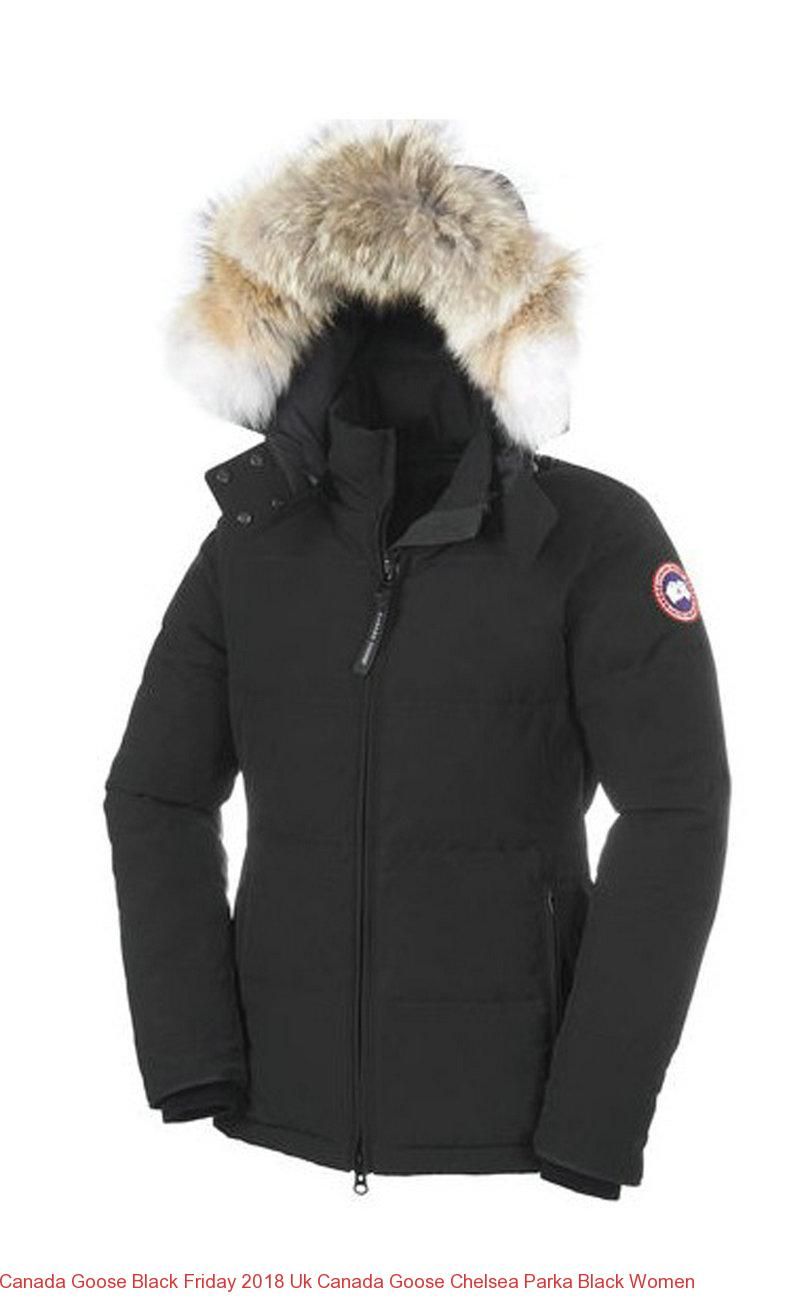 Canada Goose Black Friday 2018 Uk Canada Goose Chelsea Parka Black Women – Canada  Goose Outlet Online dbcc7b5145