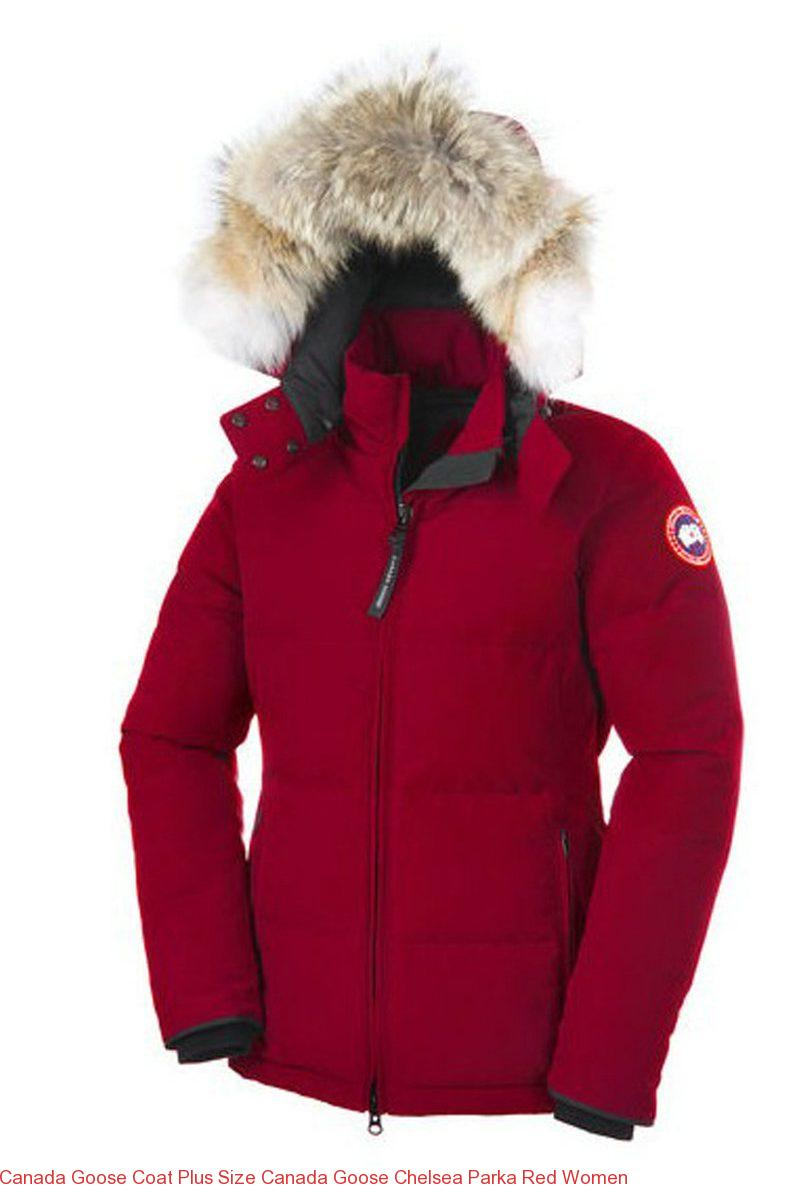 741007fe64f Canada Goose Coat Plus Size Canada Goose Chelsea Parka Red Women – Canada  Goose Outlet Online