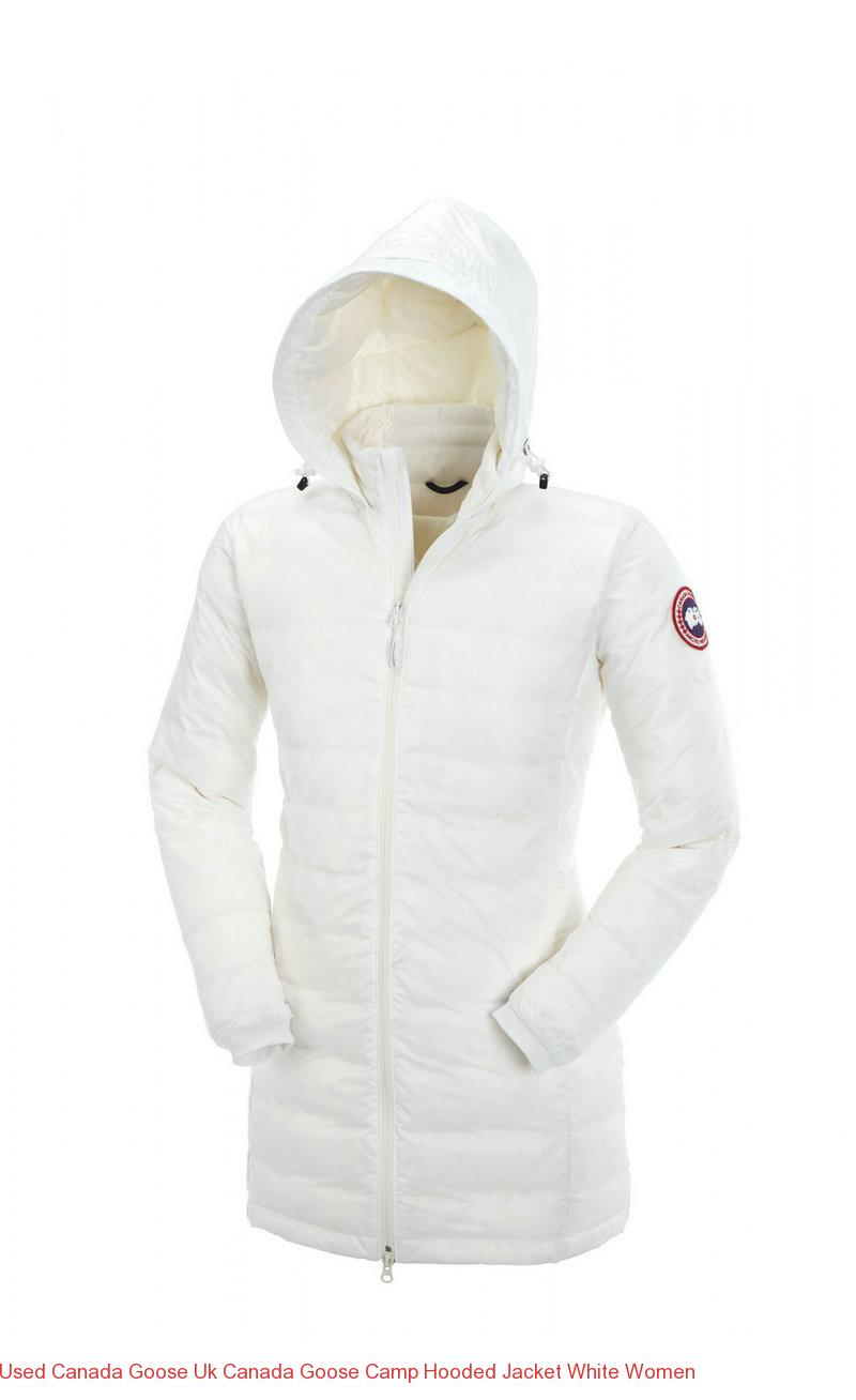 Used Canada Goose Uk Canada Goose Camp Hooded Jacket White Women – Canada  Goose Outlet Online e3d74754d